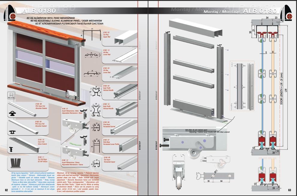Alb 0180 Aluminyum Ray Dolap Sistemi Arzunalburiye Com